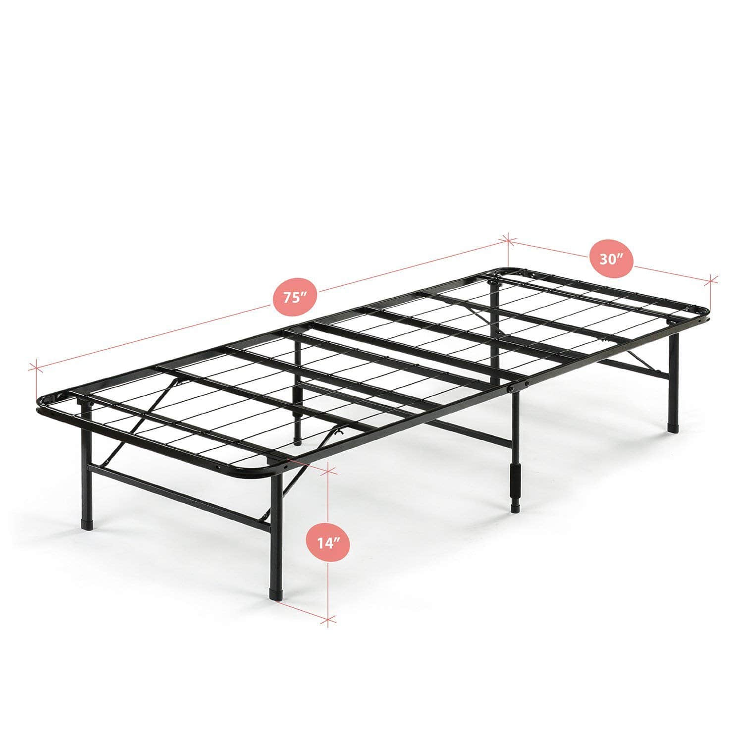 14 Inch Smartbase Mattress Foundation Cot Size 30 X 75