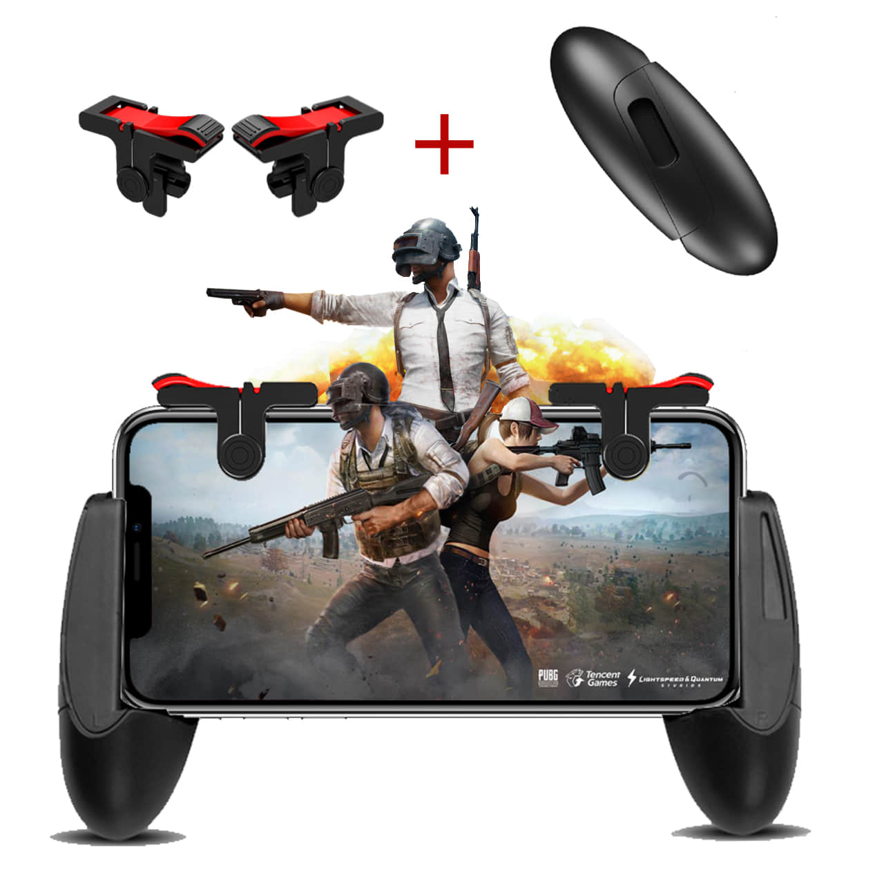 pubg mobile game controller R1L1 trigger (2 Triggers+1 Pocket Gamepad)[Upgrade Version]