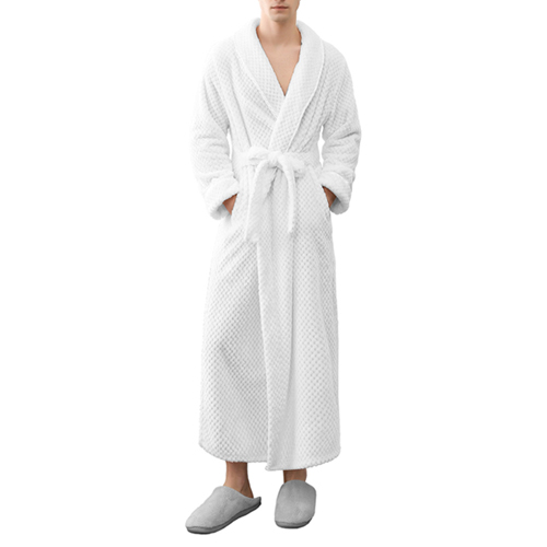 Best Warm Mens Bathrobe Plush Comfy Lightweight with Long Sleeve