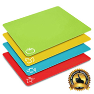 The Cutting Board with Food Icons Prevents Cross Contamination (set of 4)