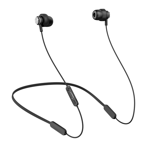 24-36hr Play Time Bluetooth Headset, Neckband Noise Cancelling True Wireless Earphones 4.2 Loud HiFi Low Latency Pair APTX Earpiece for Gym (Black)