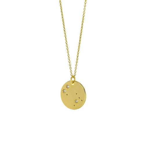 14K Gold Plated Constellation Necklace Zodiac Necklace